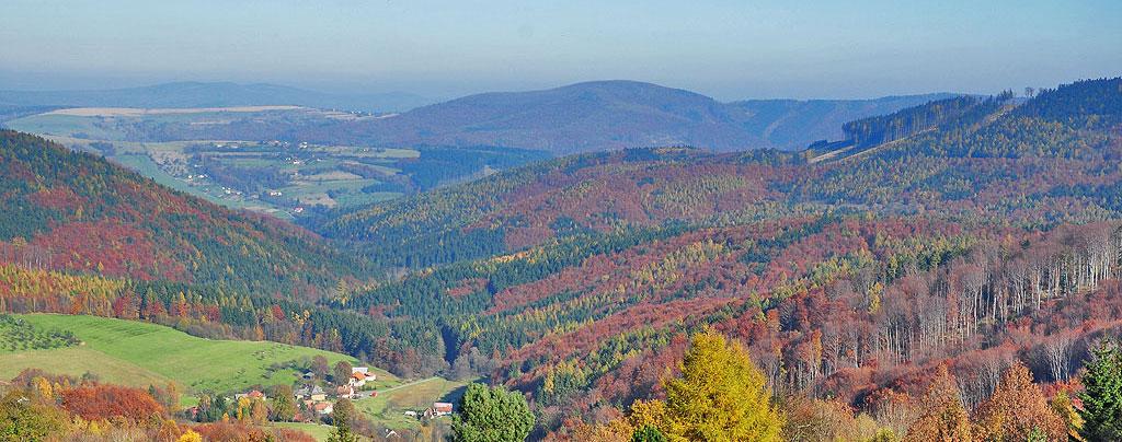 Karpaty na terytorium Czech – podział