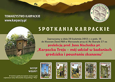 Karpacka Troja – prelekcja prof. Jana Machnika