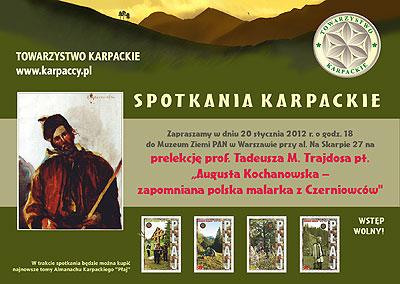 Towarzystwo Karpackie w ramach cyklu Spotkania Karpackie organizuje kolejne, już trzecie spotkanie